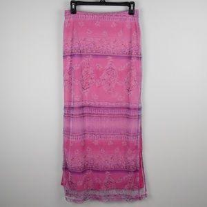 E.N.T. Entrancy Pink & Purple Slit Maxi